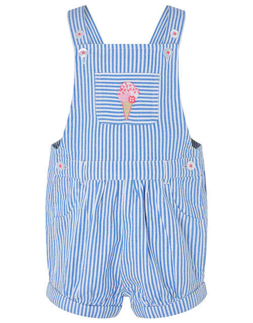 Baby Ice Cream Dungaree and T-shirt Set, Blue (BLUE), large