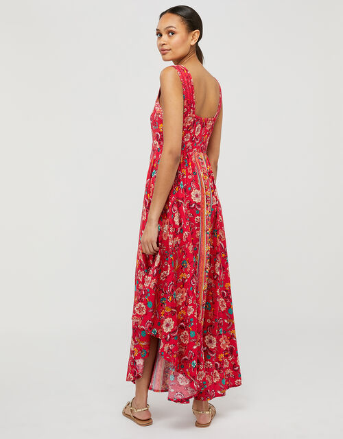 Lauren Printed Dress in LENZING™ ECOVERO™, Red (RED), large