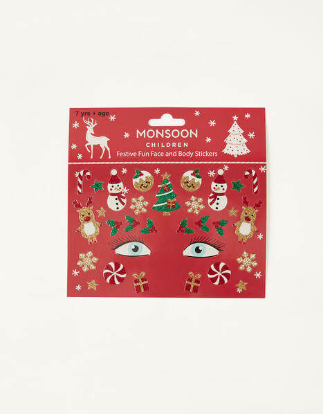 Festive Fun Face and Body Stickers, , large
