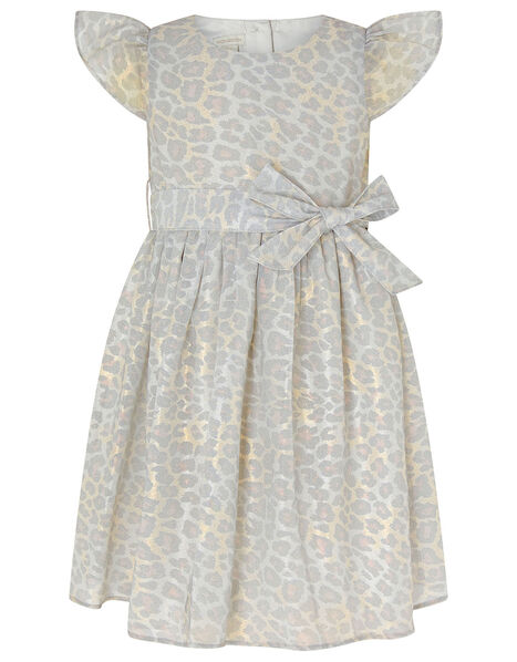 Baby Alanis Animal Print Dress Grey, Grey (GREY), large