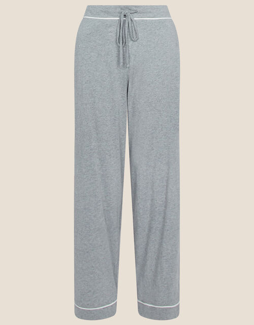 Plain Jersey Pyjama Bottoms, Grey (GREY), large