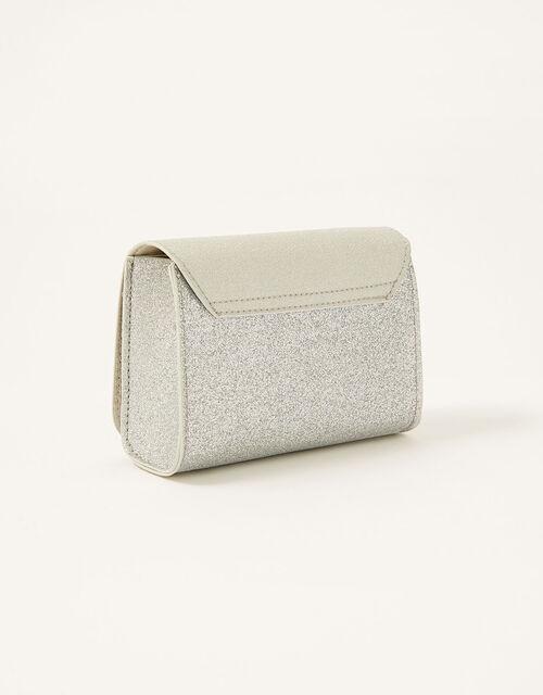 Shimmer Bow Bag and Hair Clip Set, , large