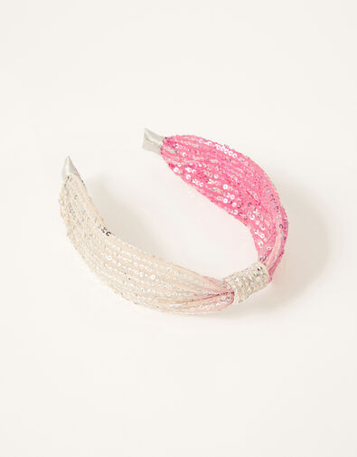 Ombre Sequin Knot Headband, , large