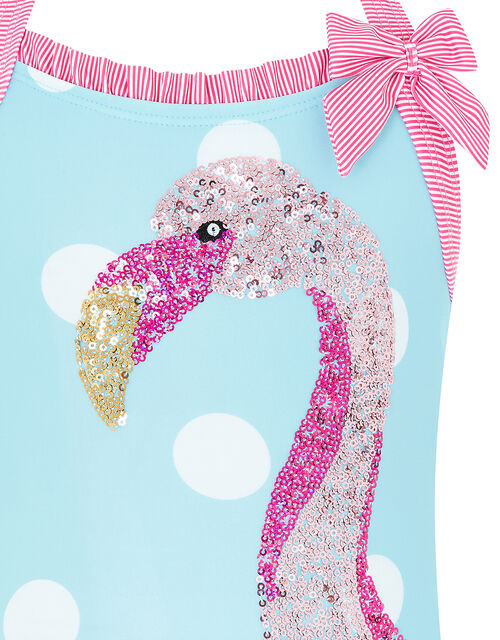 Fee Flamingo Sequin Swimsuit, Blue (TURQUOISE), large