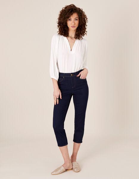 Idabella Crop Jeans with Organic Cotton Blue, Blue (INDIGO), large