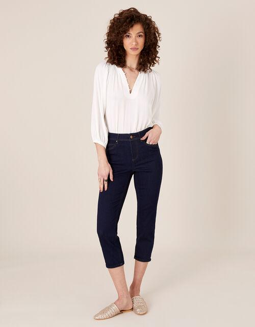 Idabella Crop Jeans with Organic Cotton, Blue (INDIGO), large