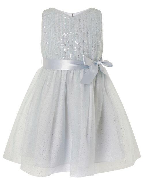 Baby Luna Sequin Sparkle Dress, Grey (GREY), large