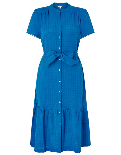 Hope Textured Tiered Midi Dress, Blue (BLUE), large