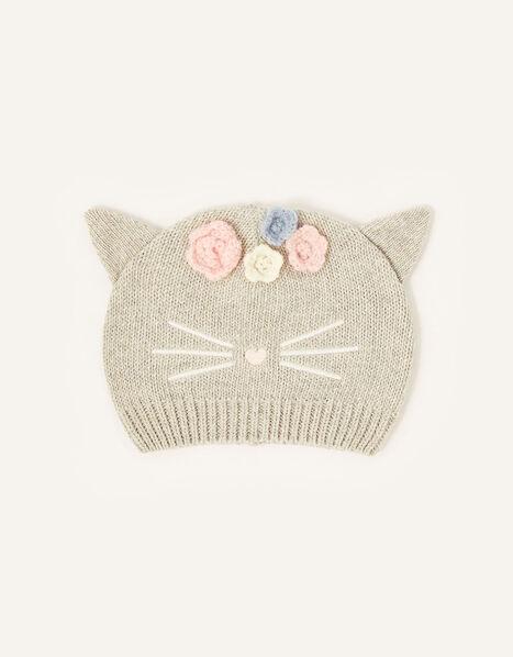Baby Luna Cat Beanie Grey, Grey (GREY), large