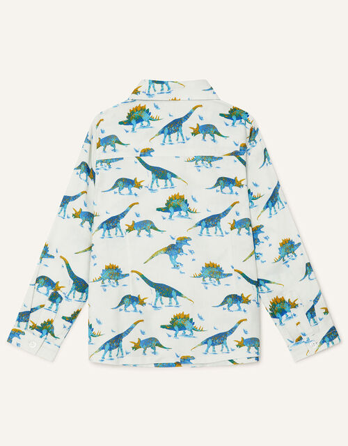 Dino Shirt in Pure Cotton, Ivory (IVORY), large
