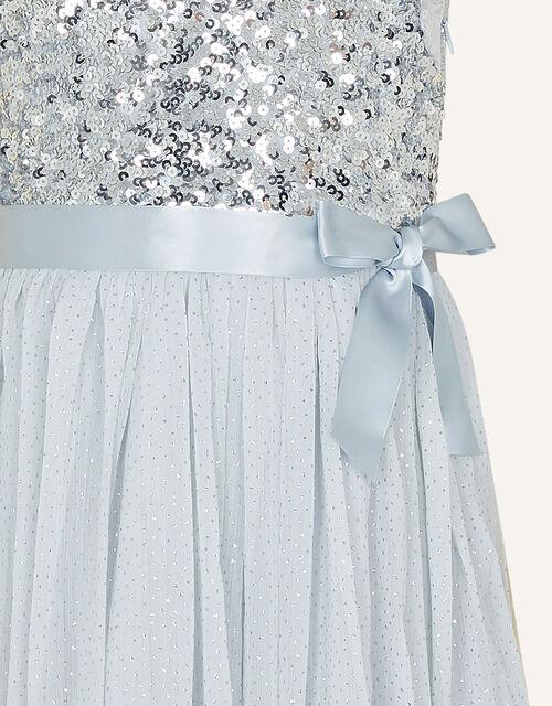 One-Shoulder Sequin Dress , Silver (SILVER), large