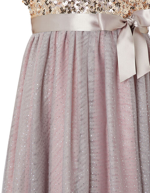 Truth Sequin Sparkle Maxi Dress, Pink (DUSKY PINK), large