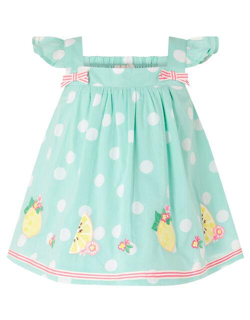 Baby Lily Lemon Top and Legging Set, Blue (AQUA), large