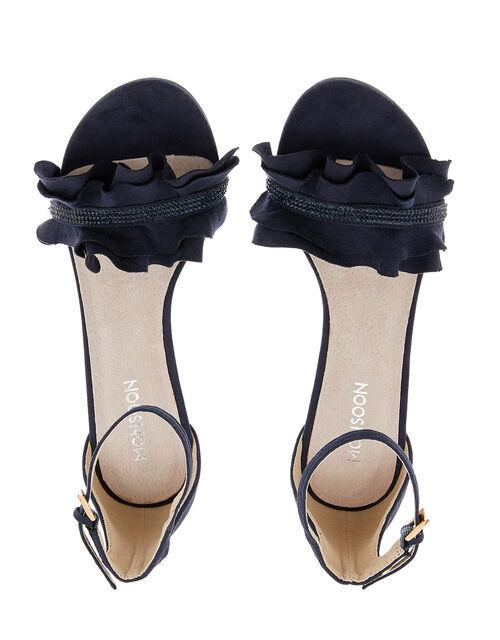 Fia Gem Kitten Sandals, Blue (NAVY), large