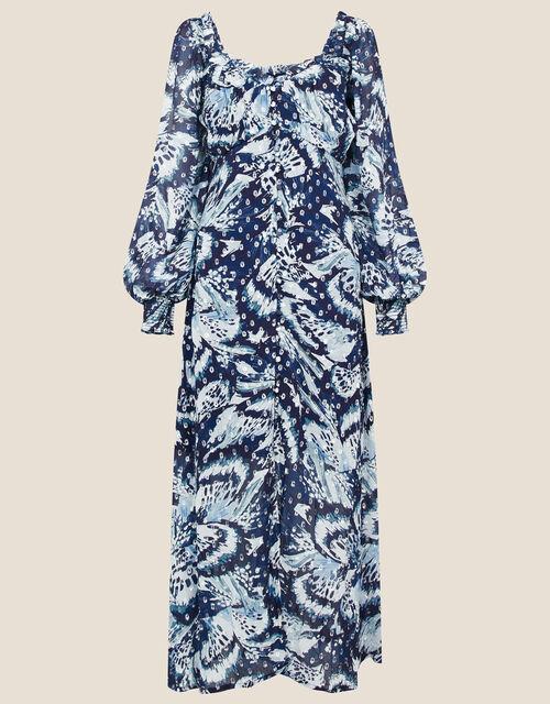 Briony Shimmer Butterfly Dress, Blue (NAVY), large
