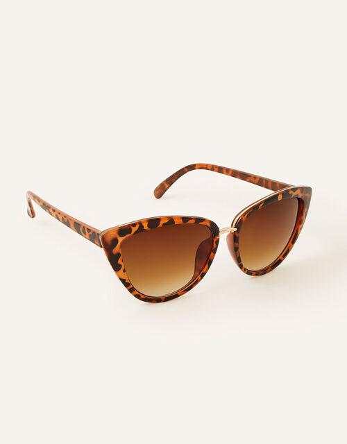 Charlie Cat Eye Sunglasses, Brown (BROWN), large