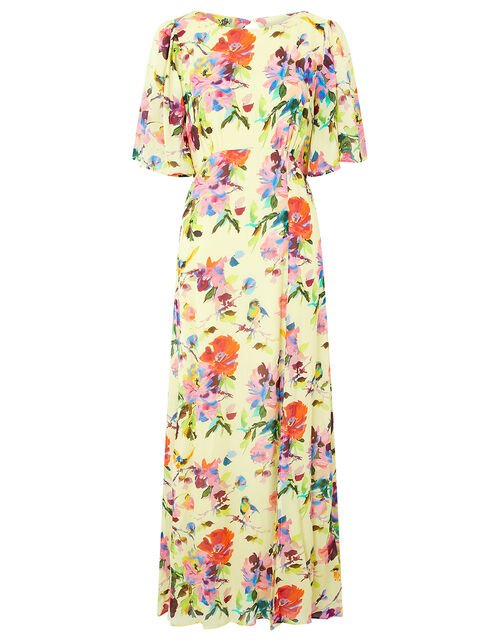 Helen Dealtry Floral Tea Dress, Yellow (YELLOW), large