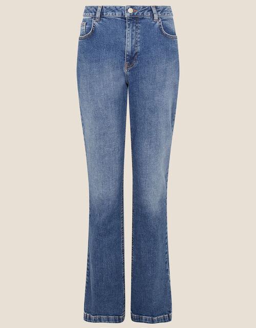 Harris Soft Flare Jeans, Blue (MID AUTHENTIC BLUE), large