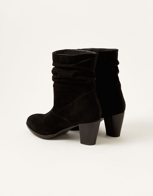 Slouch Suede Ankle Boots, Black (BLACK), large