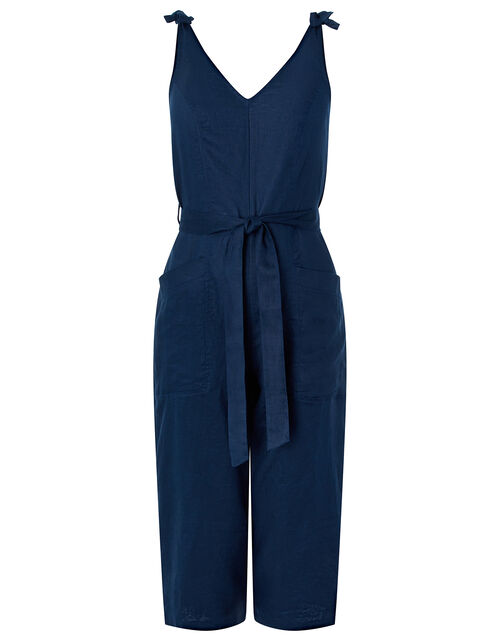Carletta Jumpsuit in Pure Linen, Blue (NAVY), large
