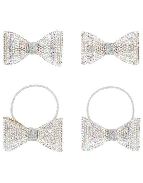 Diamante Dazzle Bow Hair Set , , large