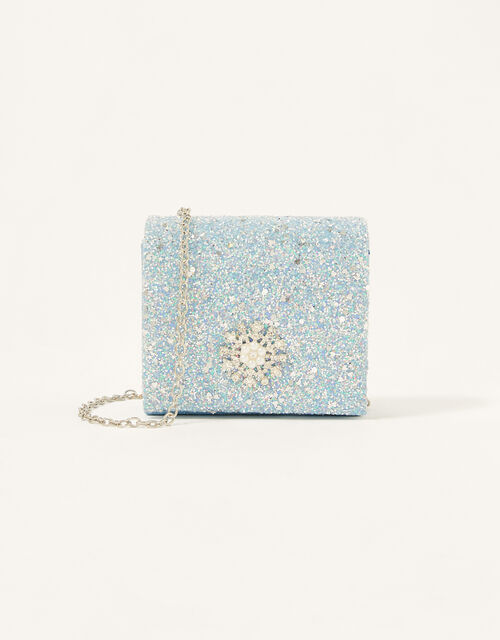 Frosted Snowflake Glitter Bag, , large