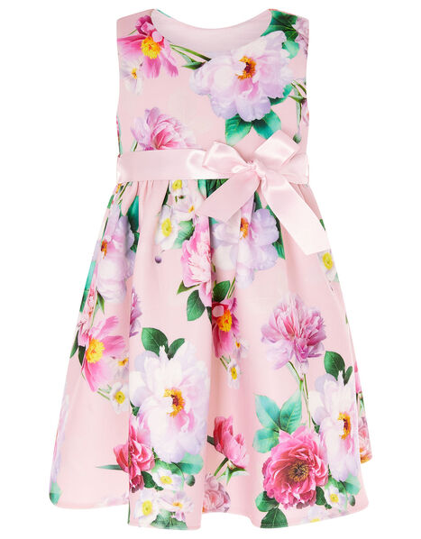 Baby Floral Scuba Dress Pink, Pink (PINK), large