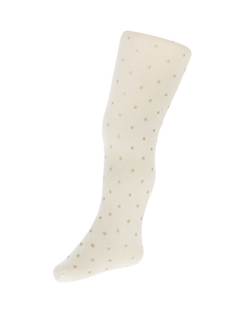 Baby Glitter Spot Tights, Gold (GOLD), large