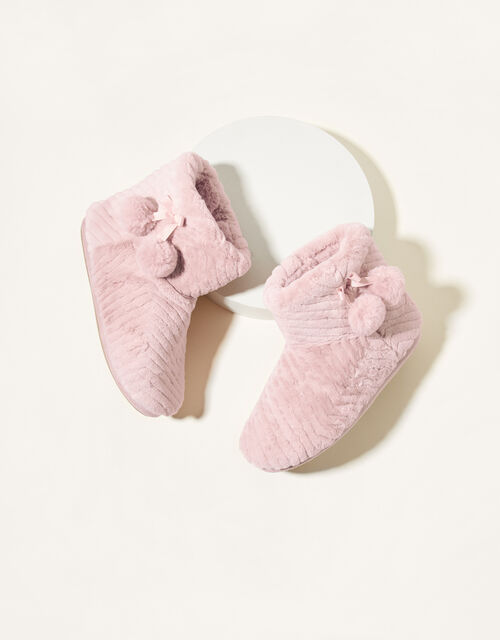 Quilted Slipper Boots, Pink (PINK), large