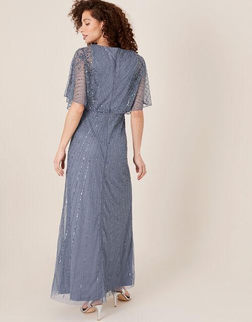 Holly Floral Embellished Maxi Dress, Blue (DARK BLUE), large