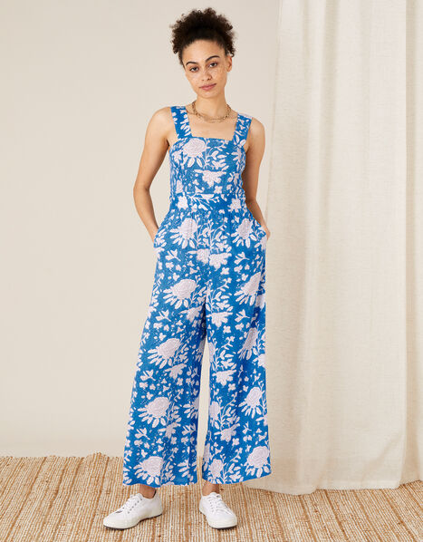 ARTISAN STUDIO Printed Jumpsuit Blue, Blue (BLUE), large