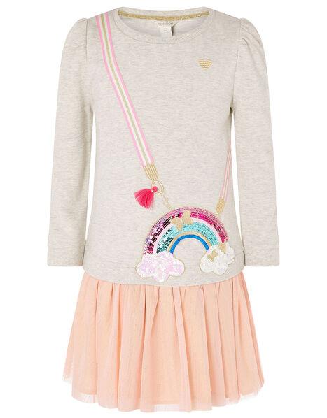 Rainbow Bag 2-in-1 Sweat Dress Camel, Camel (OATMEAL), large