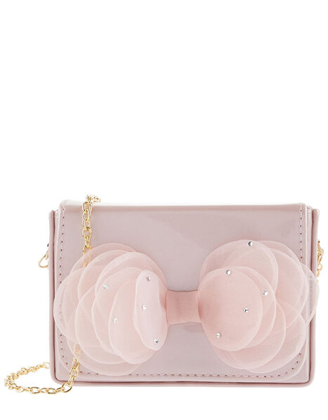 Sparkle Bow Patent Bag, , large