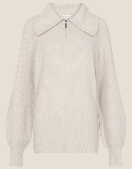 Lilly Lounge Zip Jumper , Camel (OATMEAL), large