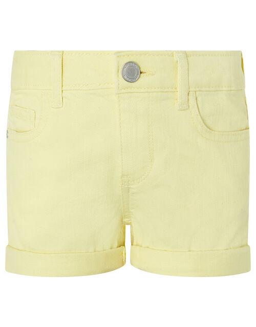 Layla Denim Shorts, Yellow (YELLOW), large