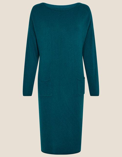 Casual Pocket Dress, Teal (TEAL), large