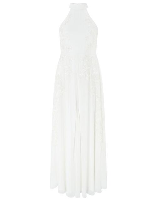 Ethel Bridal Embellished Lace Maxi Dress, Ivory (IVORY), large