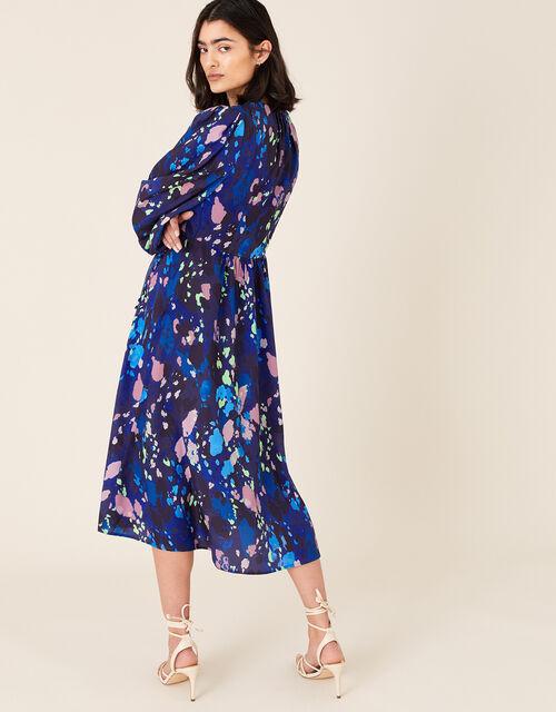 Anita Animal Print Wrap Dress, Blue (NAVY), large