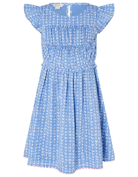 Heart Print Dress Blue, Blue (BLUE), large