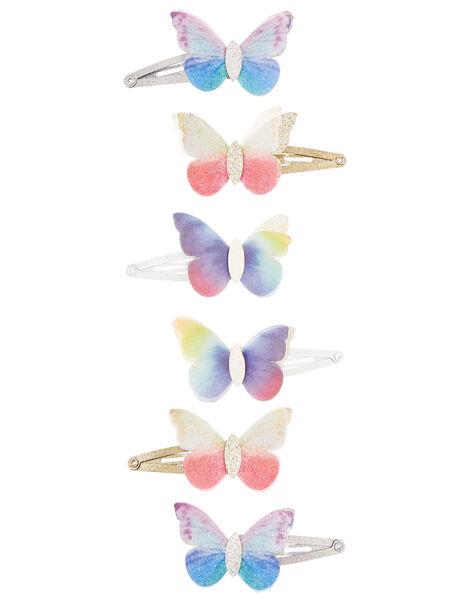 Flutter Butterfly Hair Clip Set, , large