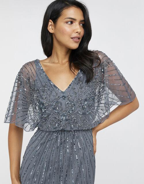 Tabitha Embellished Maxi Dress, Blue (BLUE), large