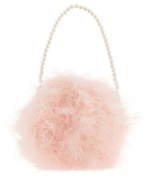 Fluffy Pom Bag, , large