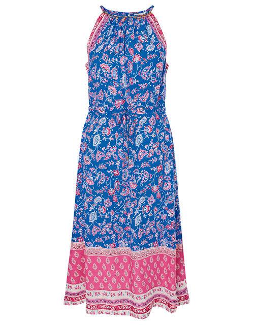 Skylar Printed Dress in LENZING™ ECOVERO™, Blue (BLUE), large