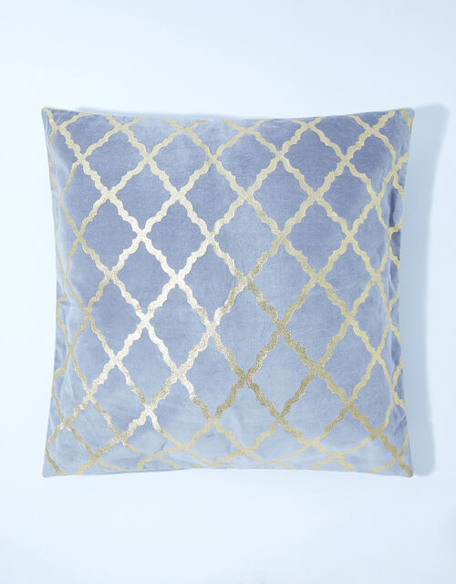 Foil Print Velvet Cushion, , large