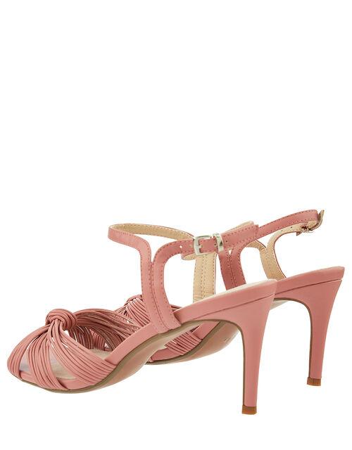 Kitty Knot Heeled Sandals, Pink (BLUSH), large