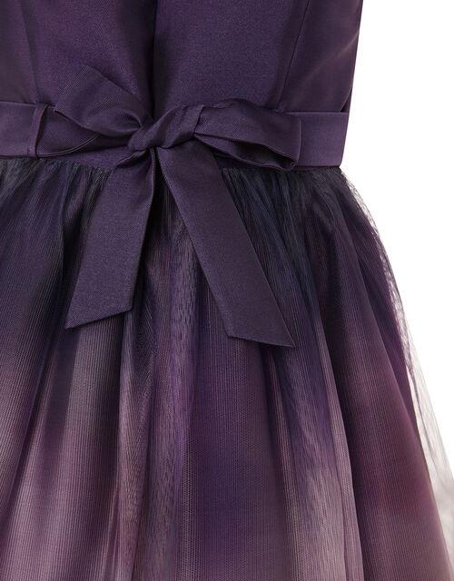 Ombre Skirt Prom Dress, Purple (PLUM), large