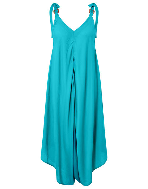 Relaxed Romper in LENZING™ ECOVERO™, Teal (TEAL), large