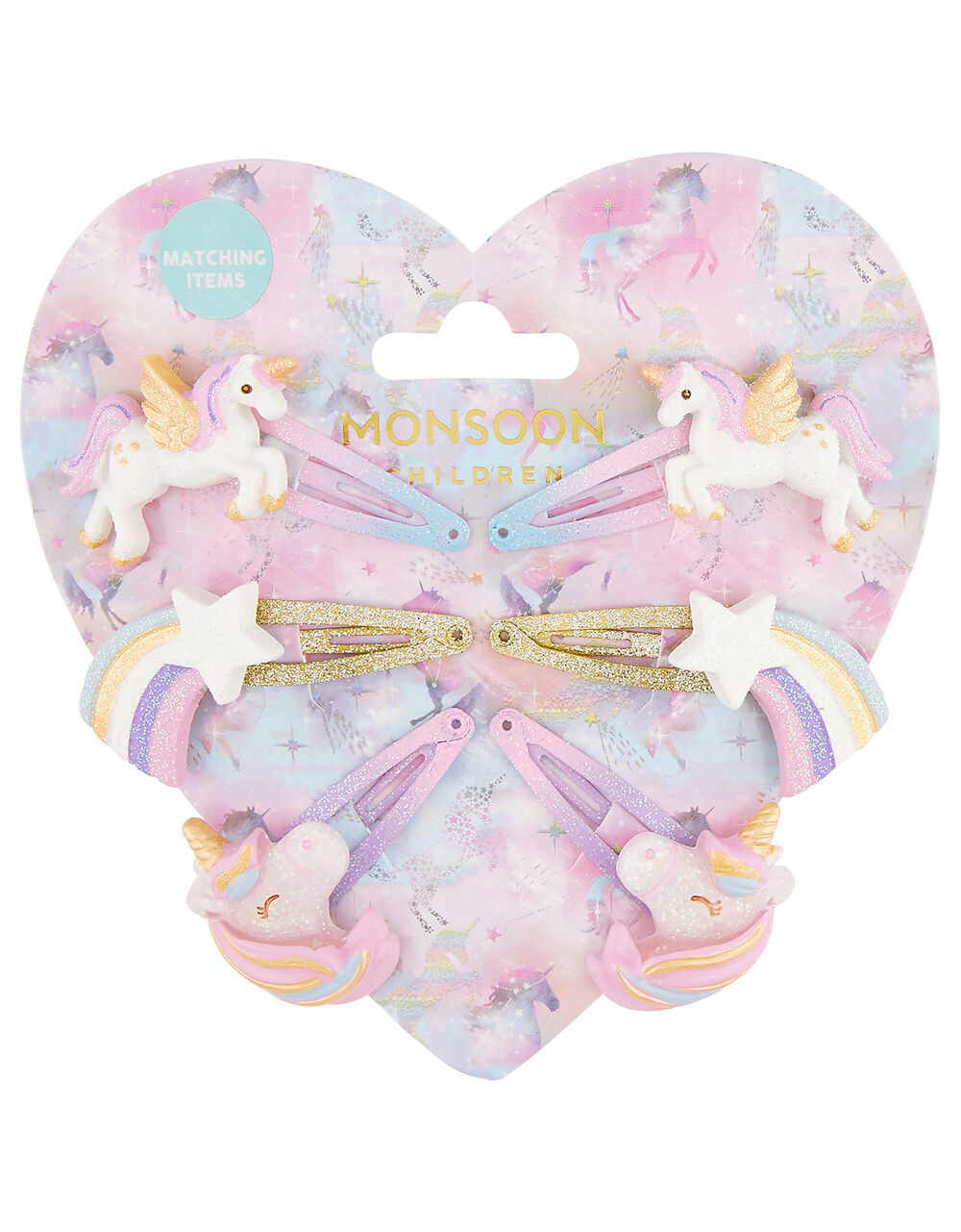 Sparkle Unicorn Hair Clip Multipack, , large