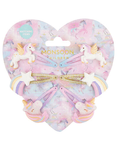 Sparkle Unicorn Hair Clip Multipack, , large