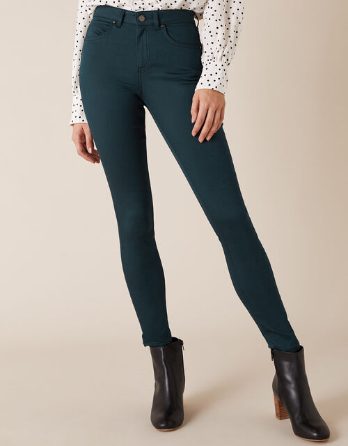 Nadine Regular Length Jeans with Organic Cotton, Teal (TEAL), large